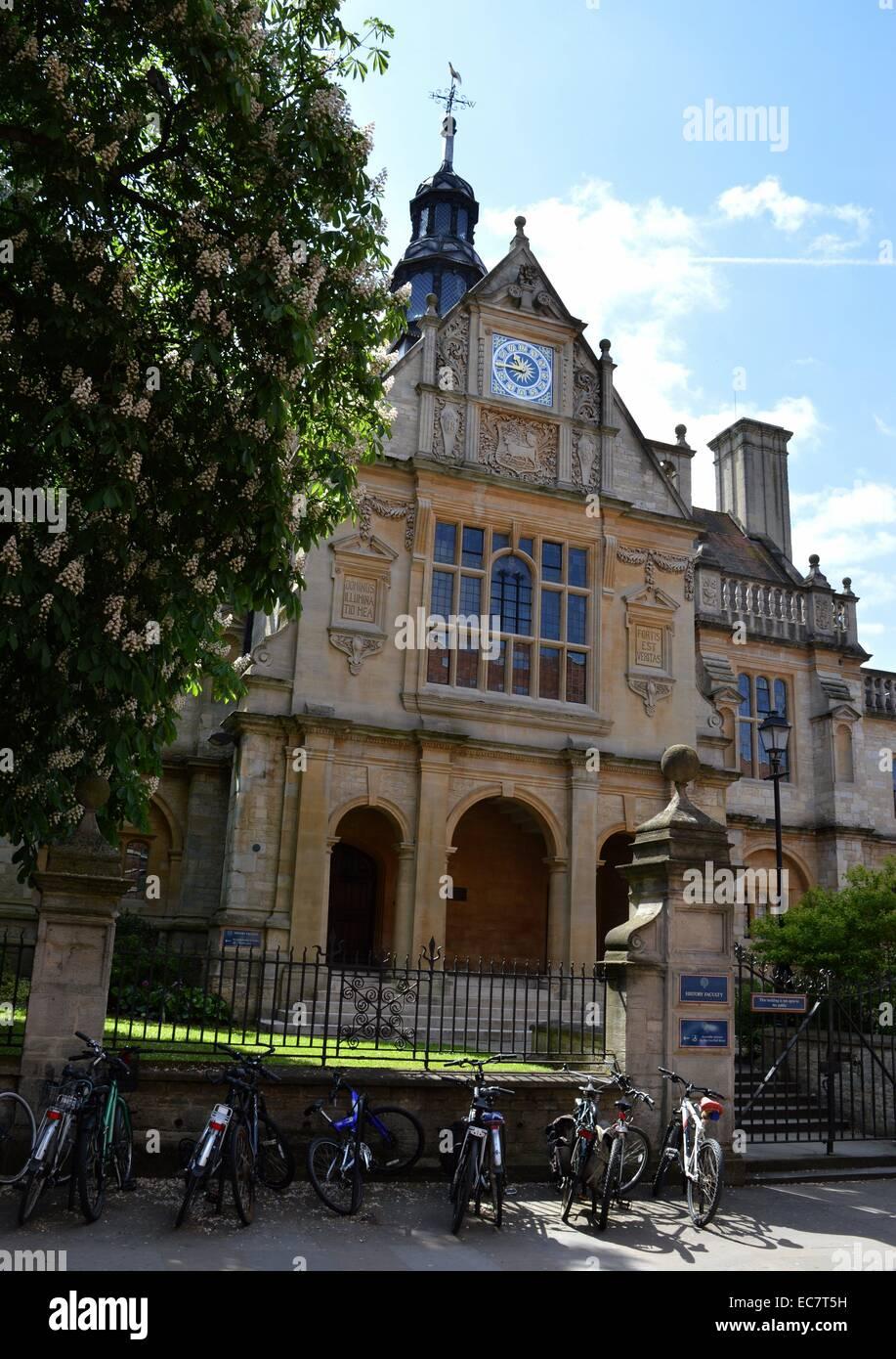 Facultad de Historia de la universidad de Oxford, Oxford, Inglaterra Imagen De Stock