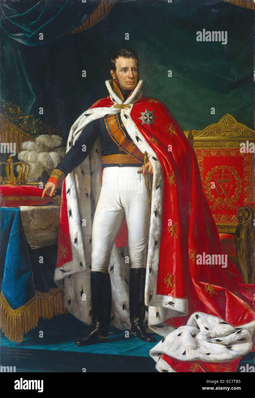 Willem I (1772-1843), Rey de los Países Bajos por Joseph Paelinck; 1819. Imagen De Stock