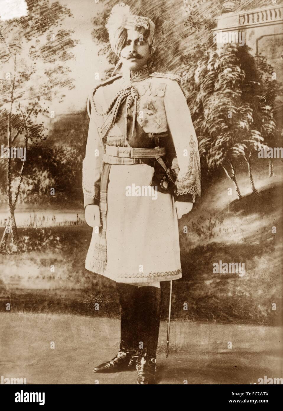General Sir Ganga Singh (1880-1943), el maharajá del estado de Bikaner, India. Trabajó en el Gabinete Imagen De Stock