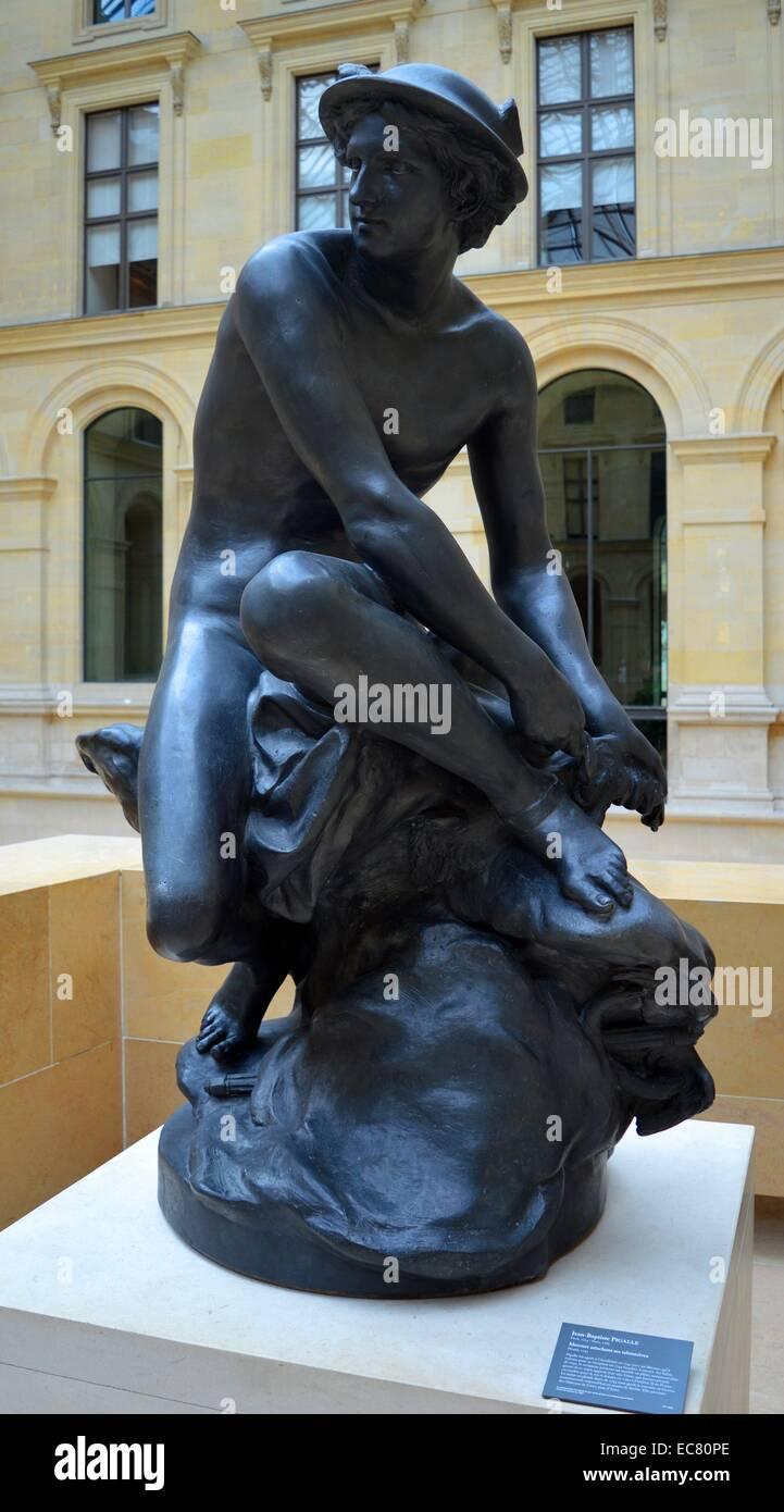 Mercurio Baptiste por sus Jean quien alas 1785 Pigalle atar 1714 rP4qvr