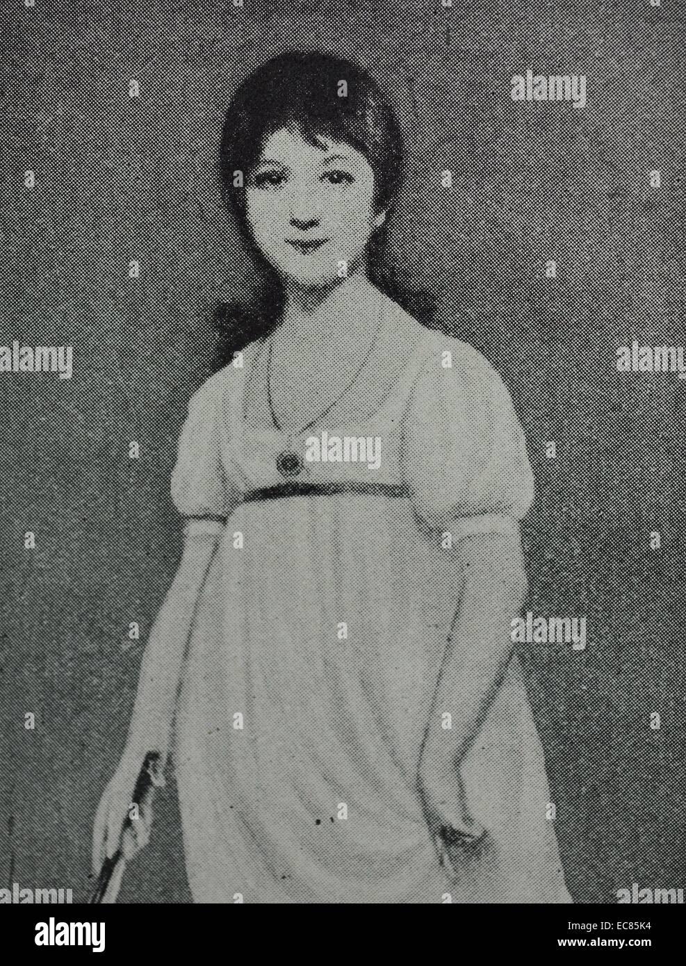 Retrato de una joven Jane Austen Imagen De Stock