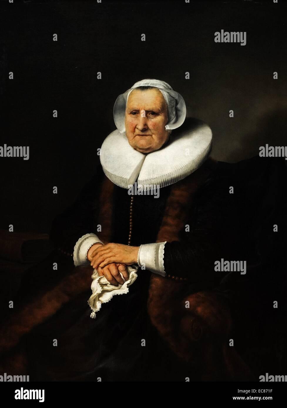 Retrato de una vieja dama Imagen De Stock