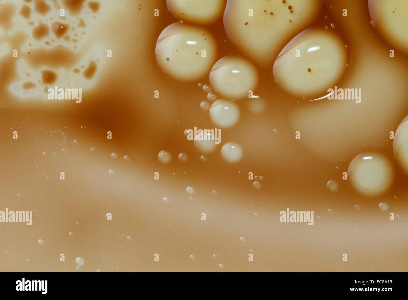 Con vinagre balsámico, gotas de agua y círculos, Fondos abstractos Imagen De Stock