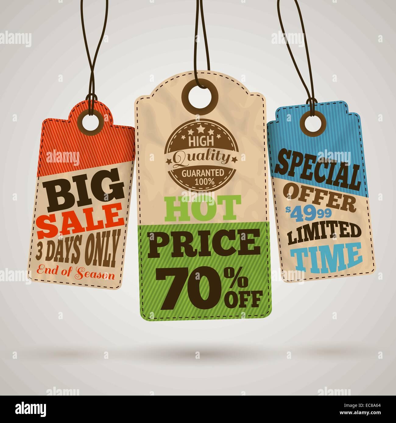 Colección de cartón etiquetas de precio de venta de plantillas de ...