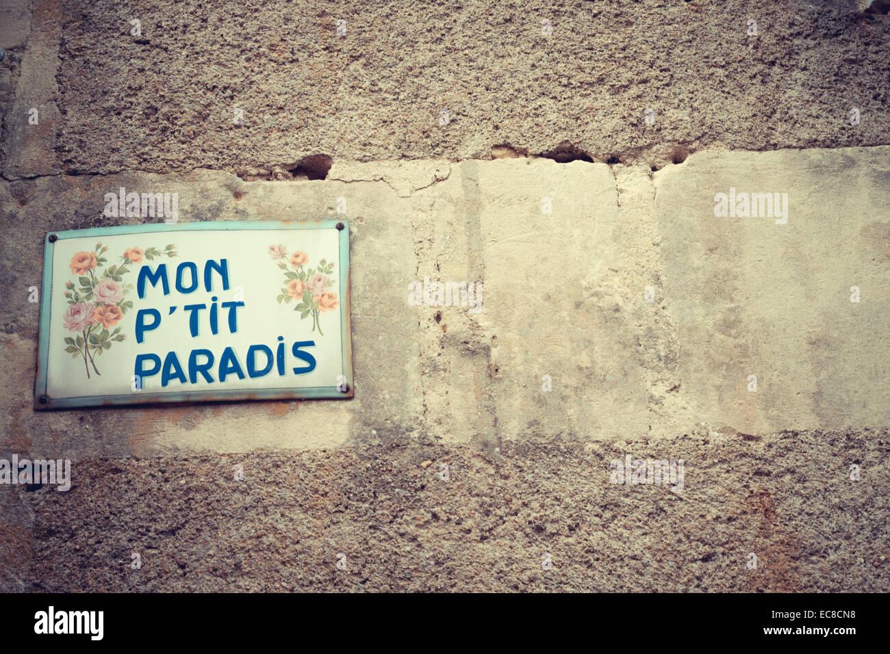 texto de pared Imagen De Stock
