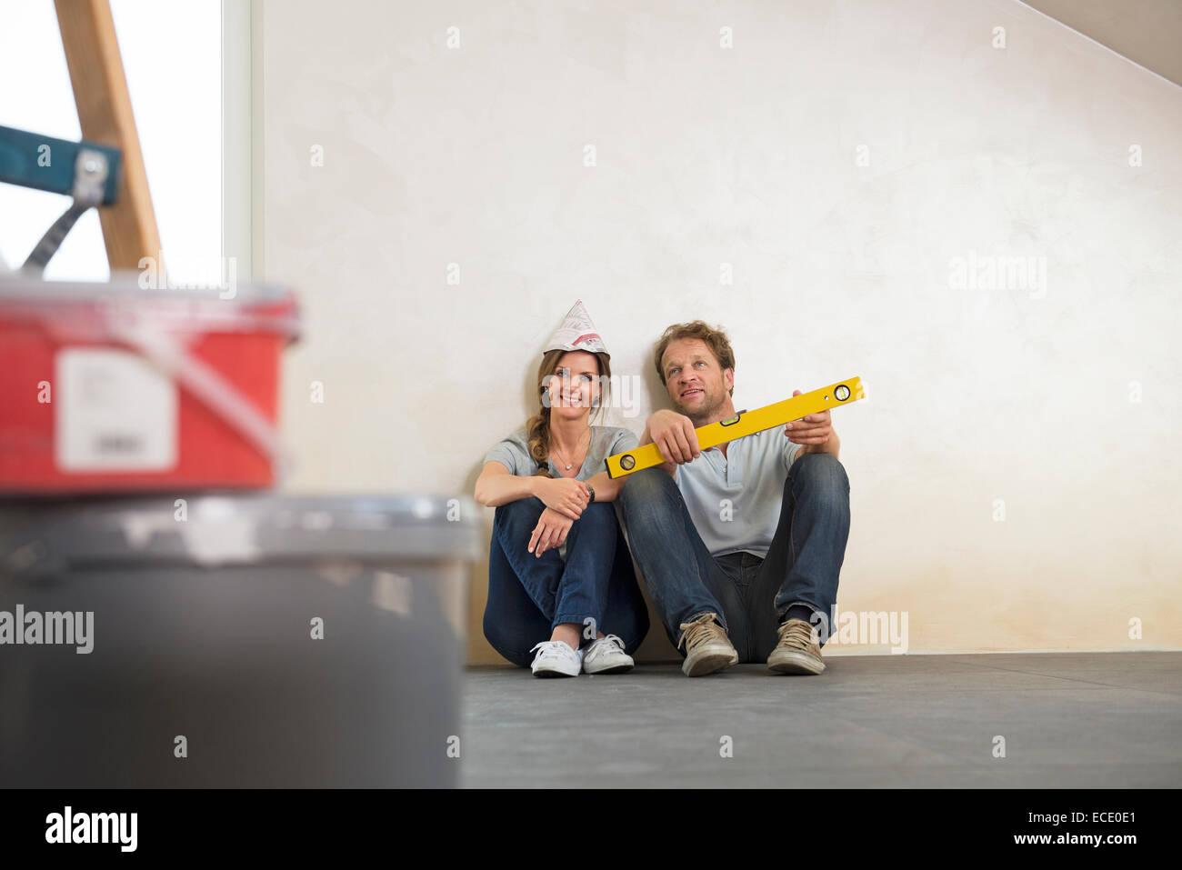 Tomando un descanso par casa nueva planificación Imagen De Stock