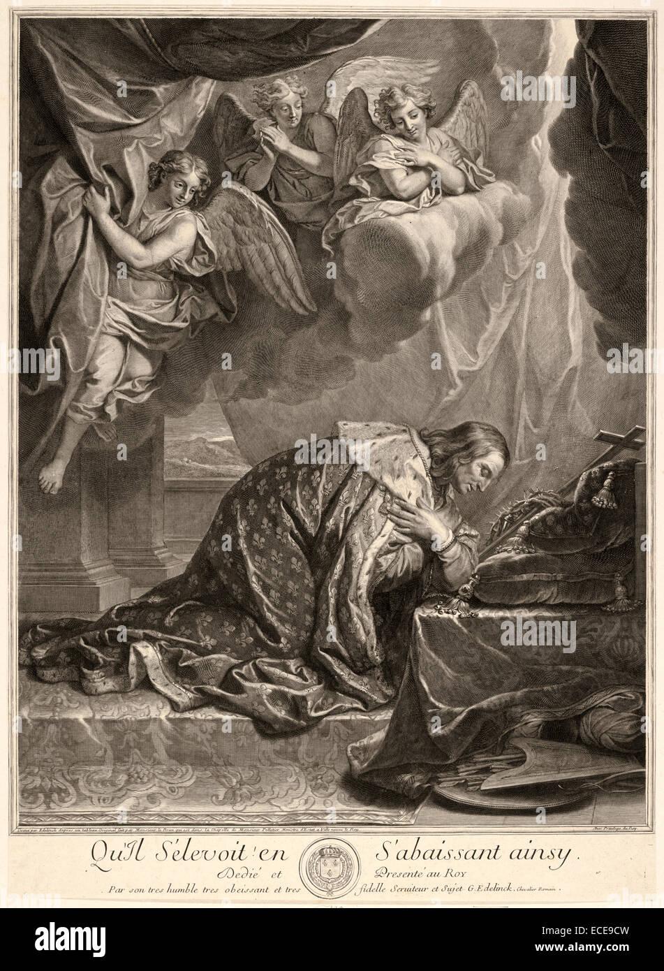 Retrato de San Luis, rey de Francia Foto de stock