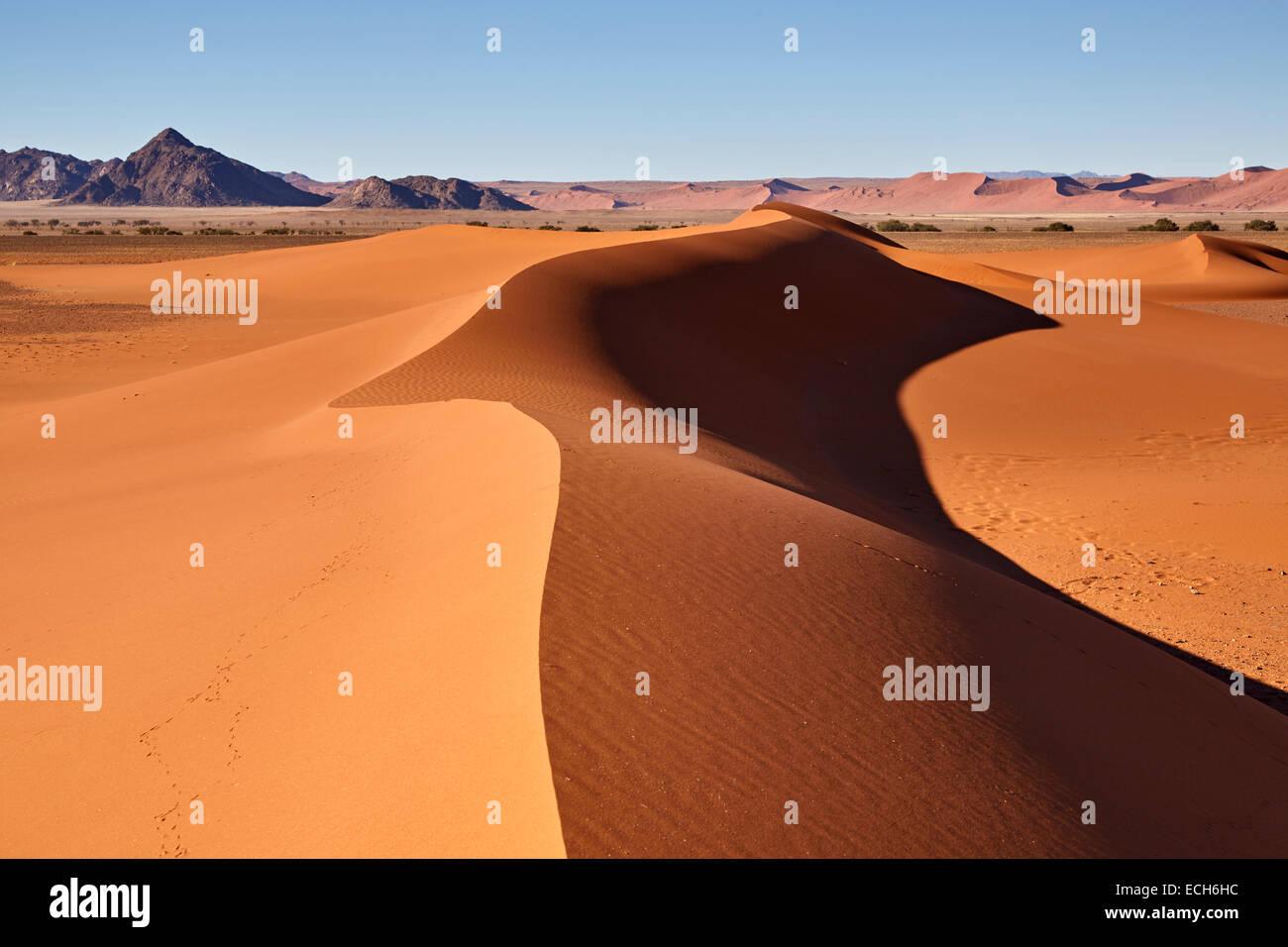 Las dunas de arena, Sossusvlei, desierto de Namib, Namibia Imagen De Stock