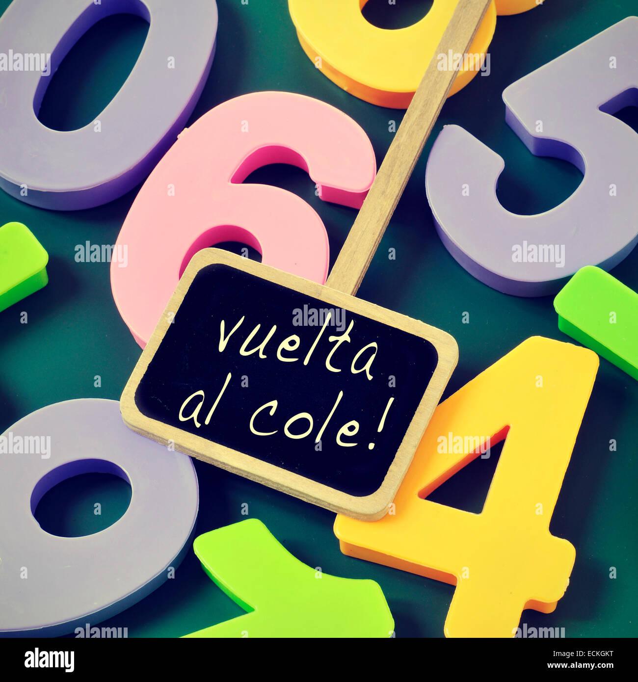 Frase Vuelta Al Cole Vuelta A La Escuela En Español