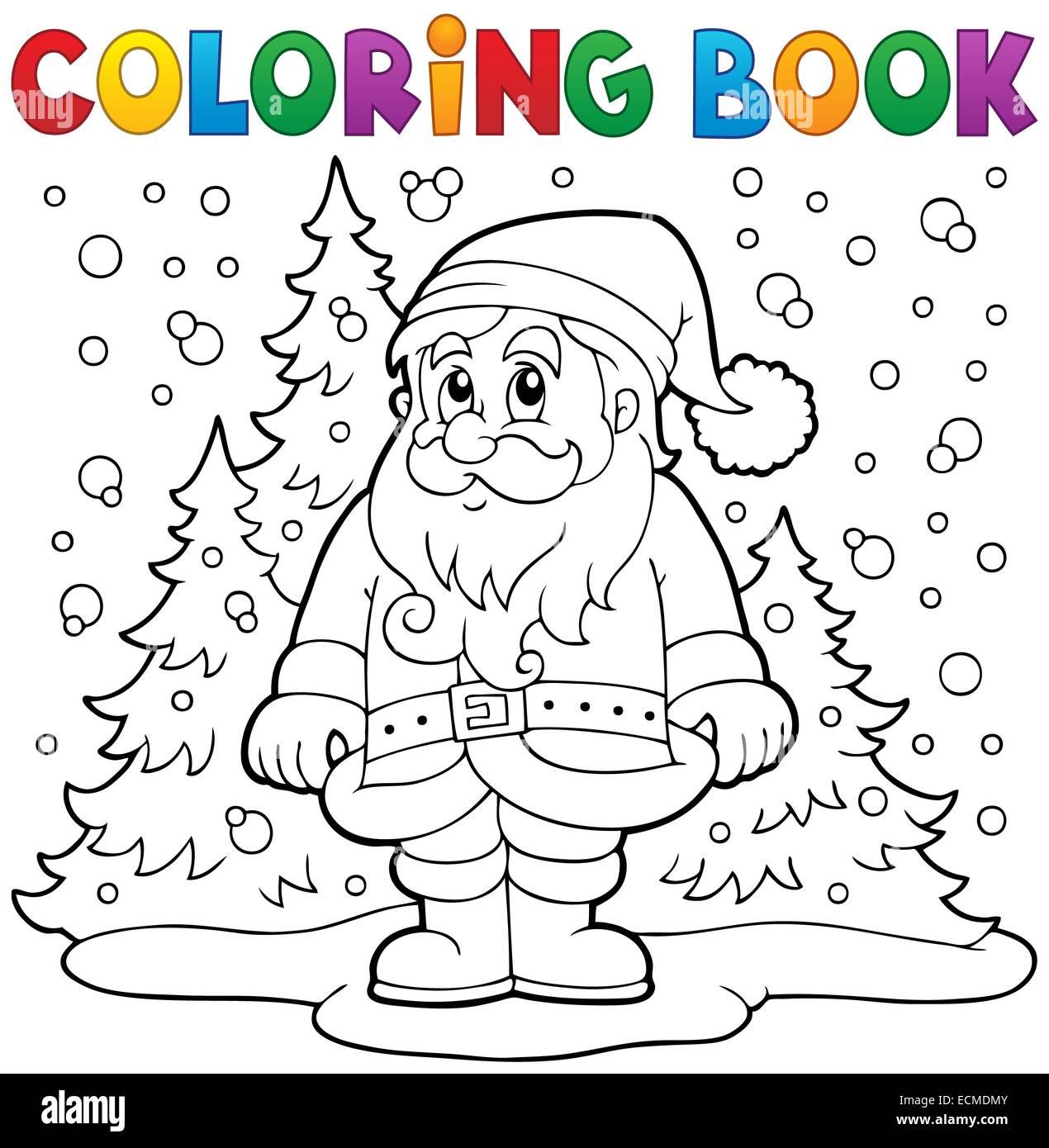 Libro Para Colorear De Santa Claus En La Nieve 3 Ilustración De