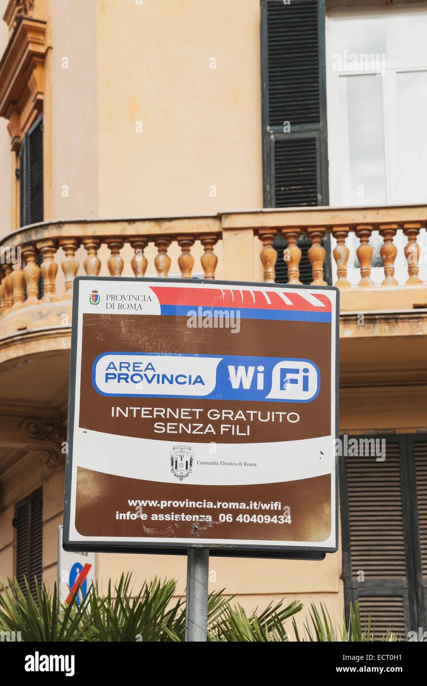 Italia Roma wifi gratis identifícate barrio judío Imagen De Stock