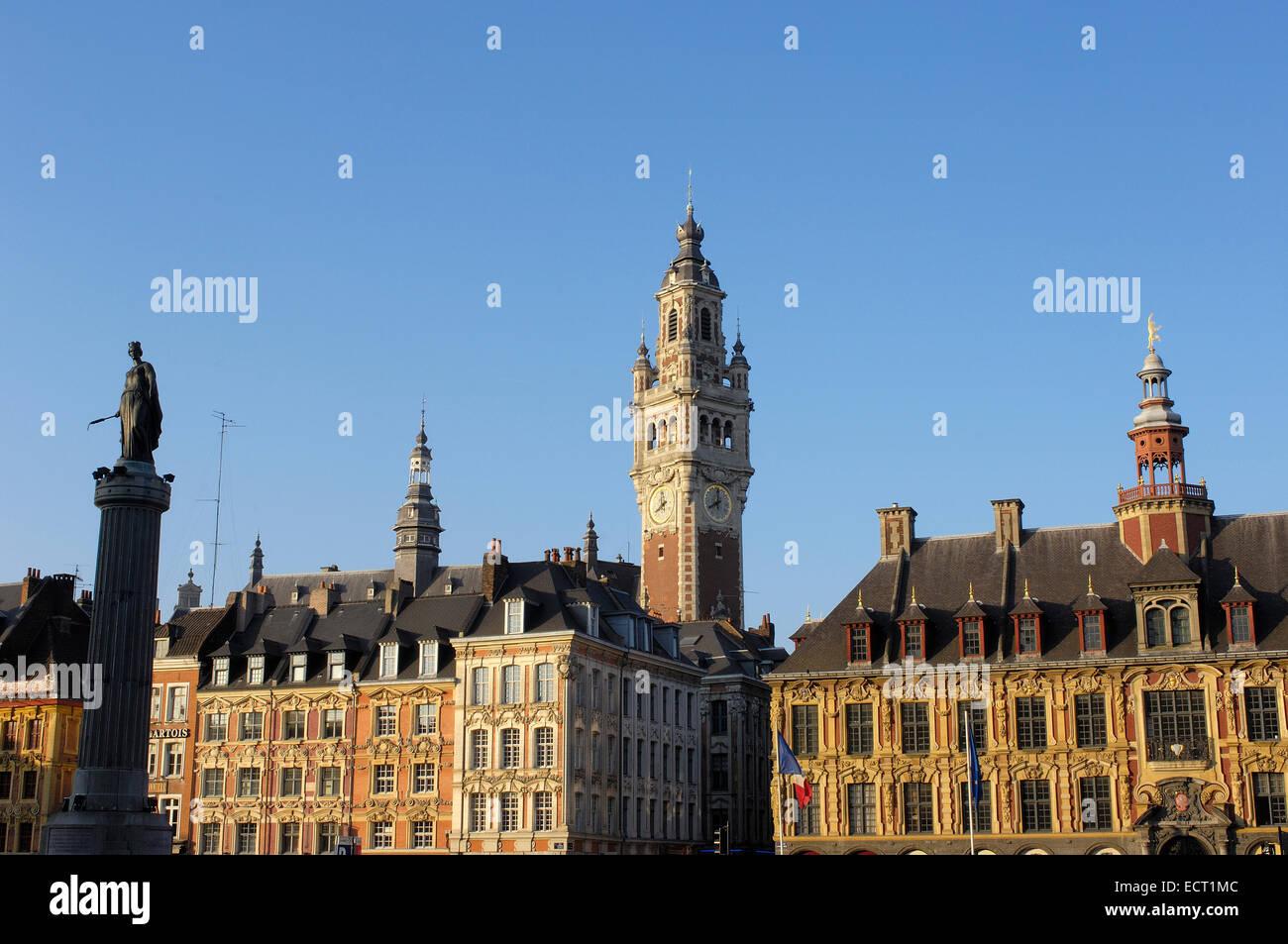 Place du Général de Gaulle, Lille, Nord-Pas de Calais, Francia, Europa Imagen De Stock