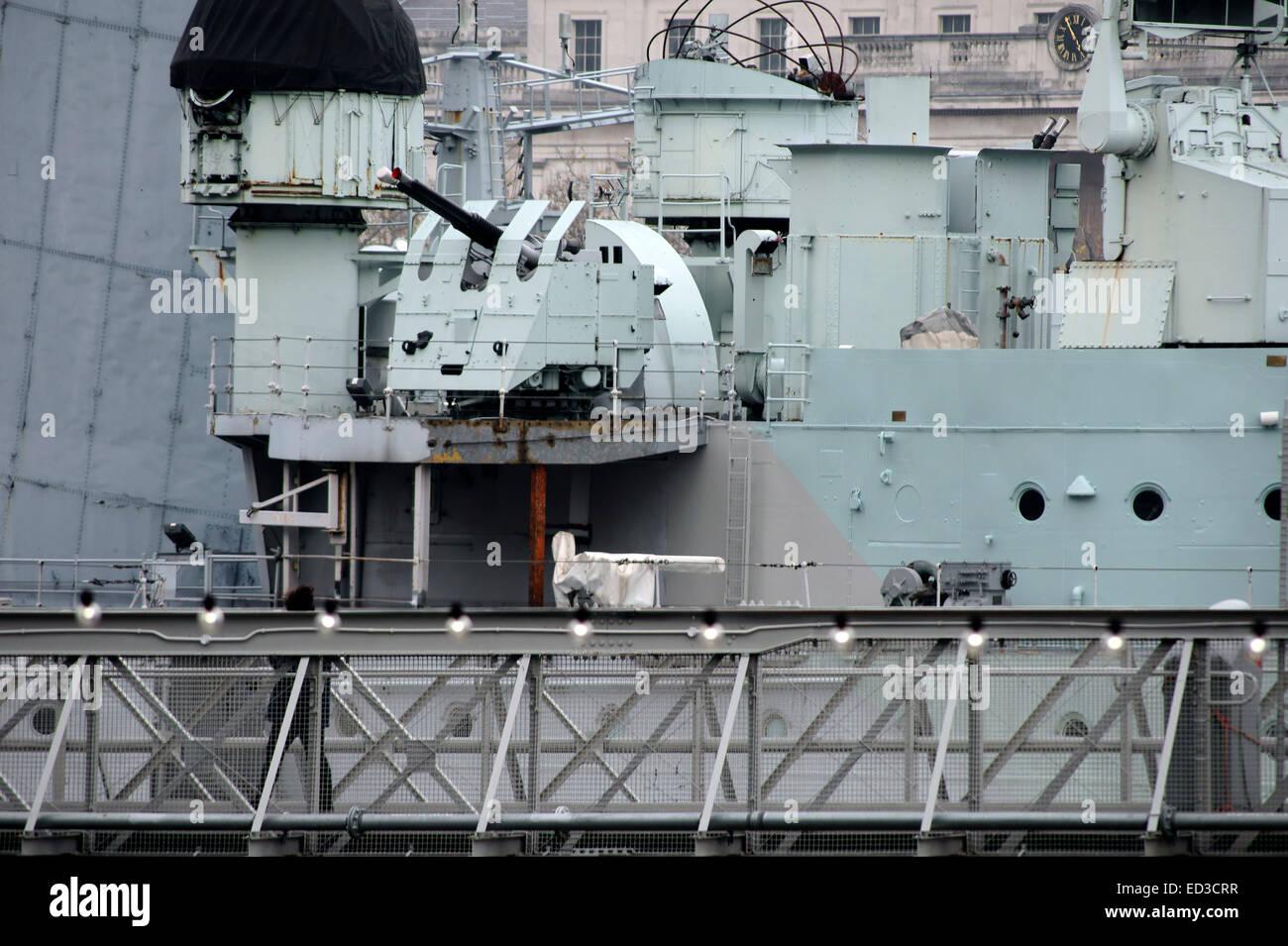 HMS Belfast Foto de stock