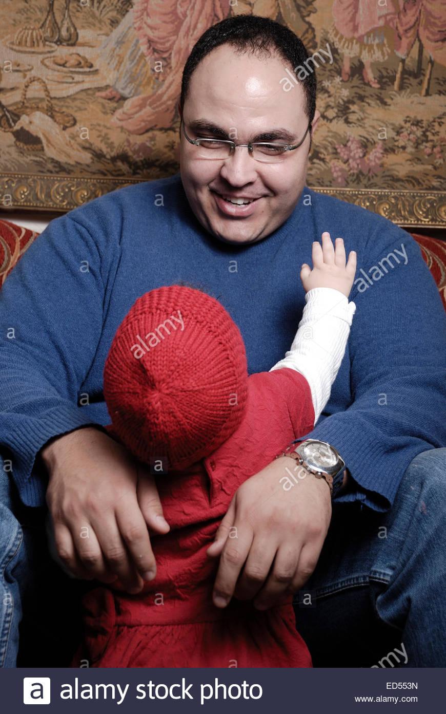 Momento Sincero entre un padre y su hija Imagen De Stock