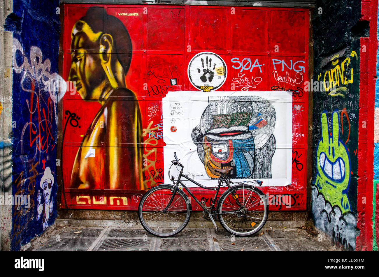 El muro de Berlín, East Side Gallery Imagen De Stock