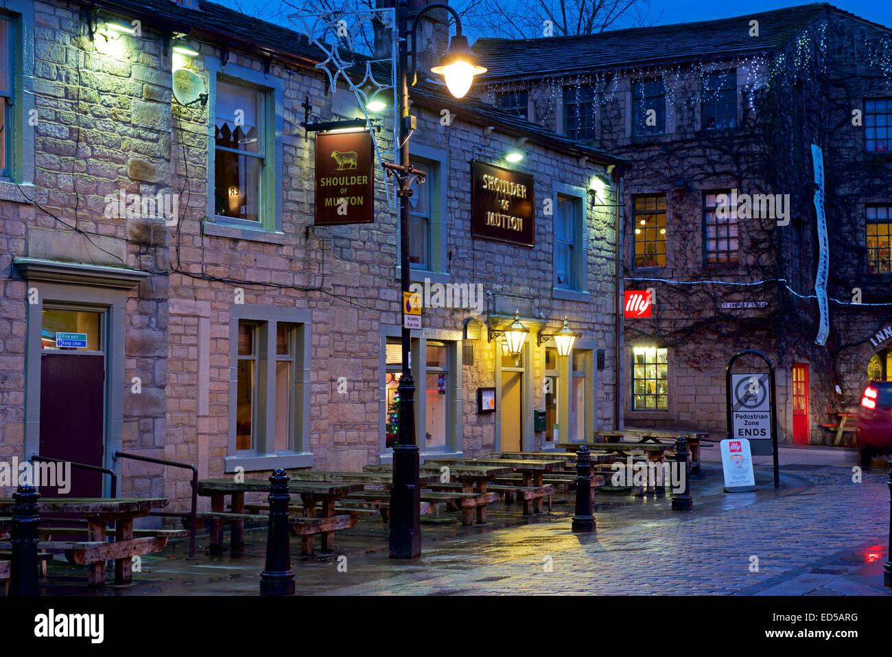 Paletilla de Cordero, pub Hebden Bridge, Calderdale, West Yorkshire, Inglaterra Imagen De Stock