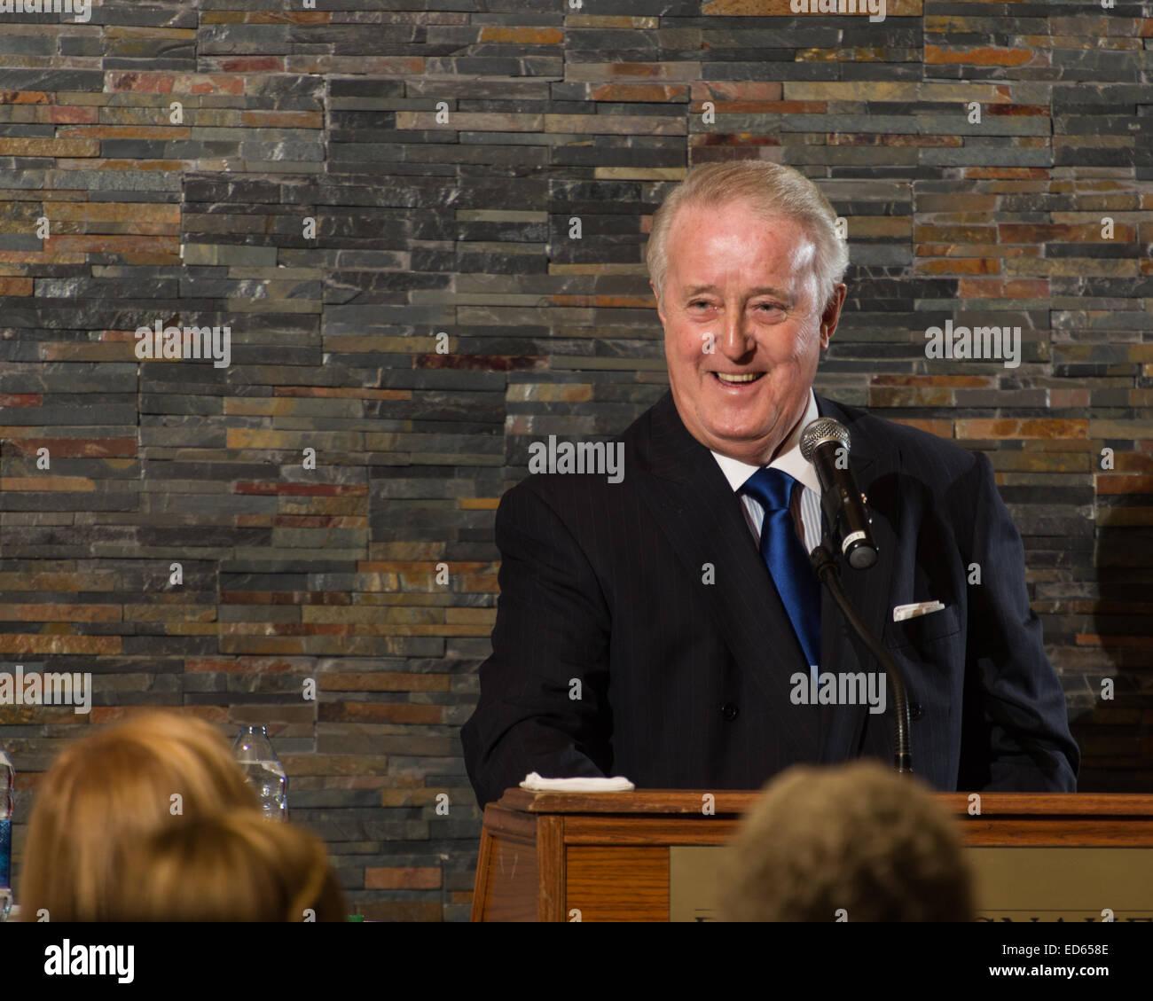 El Honorable Brian Mulroney como orador invitado en una cena de recaudación de fondos, 2014-10-09. Imagen De Stock
