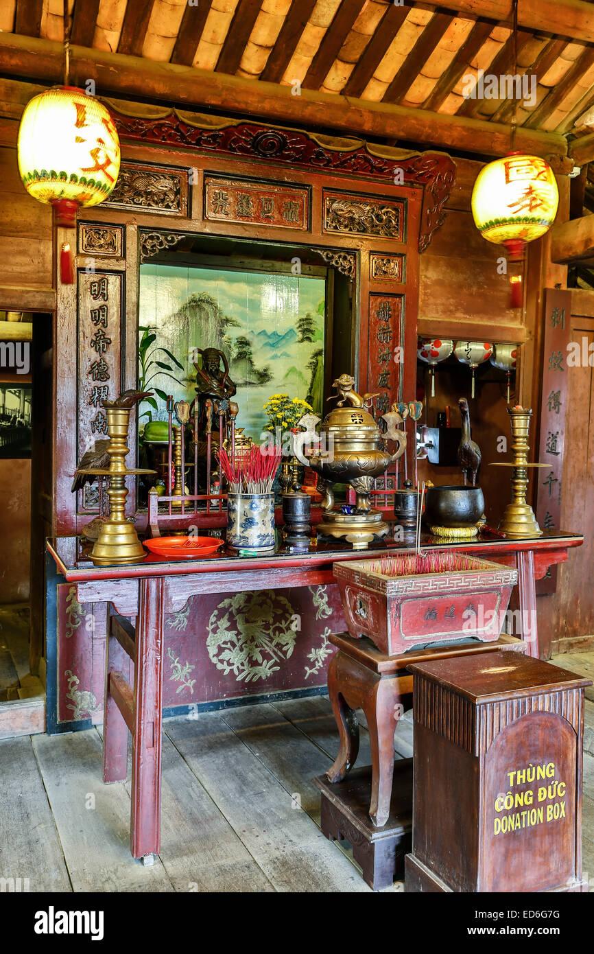 Santuario, puente cubierto japonés, Hoi An, Vietnam Imagen De Stock