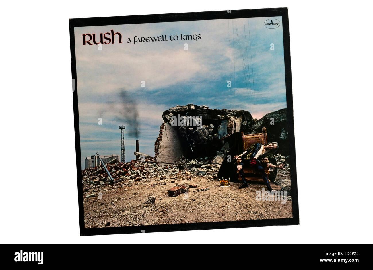 Adiós a los Reyes fue el quinto álbum de estudio de la banda de rock canadiense Rush, lanzado en 1977. Imagen De Stock