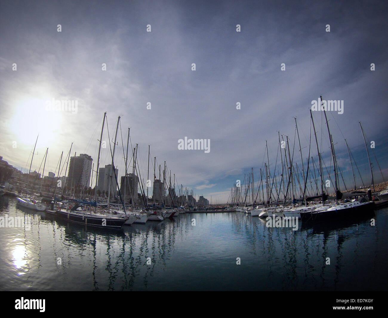 El puerto deportivo de Tel Aviv, Israel. Imagen De Stock
