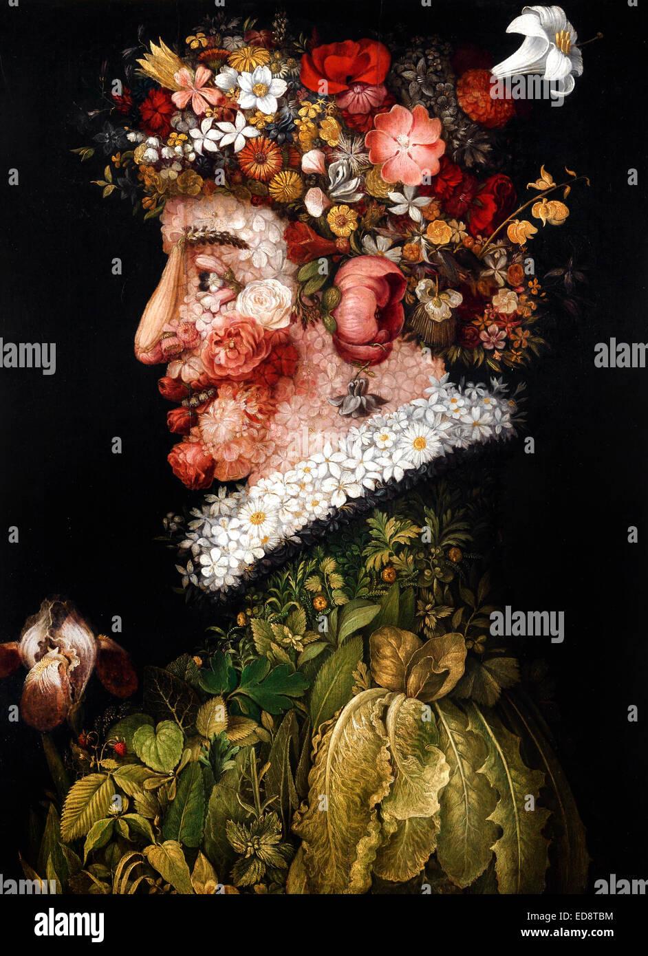 Giuseppe Arcimboldo, La Primavera (Spring) 1563 Real Academia de Bellas Artes de San Fernando, Madrid, España. Foto de stock