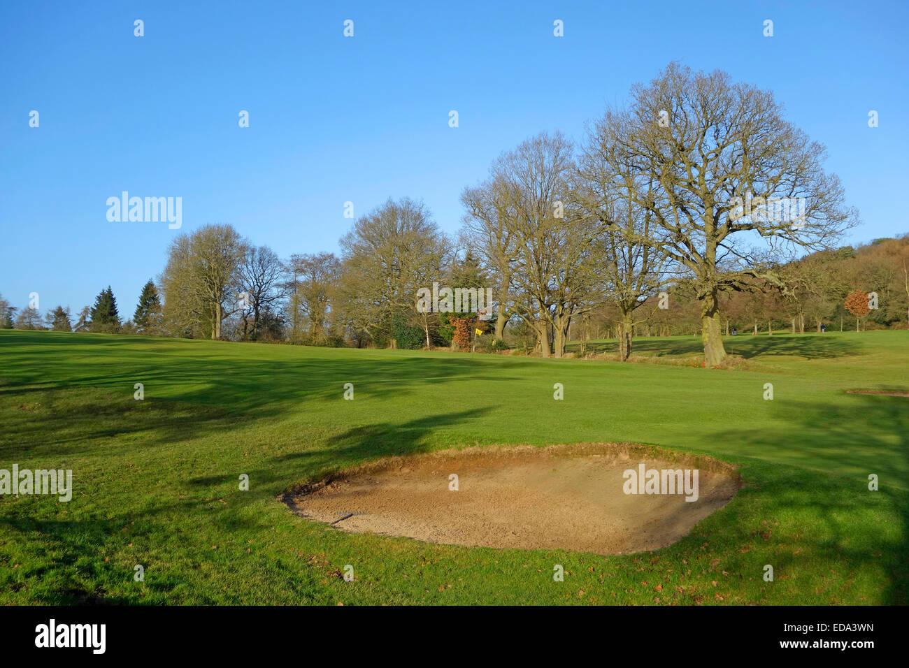 Lickey Hills Golf Course, colinas Lickey, Worcestershire, Inglaterra, Reino Unido. Foto de stock