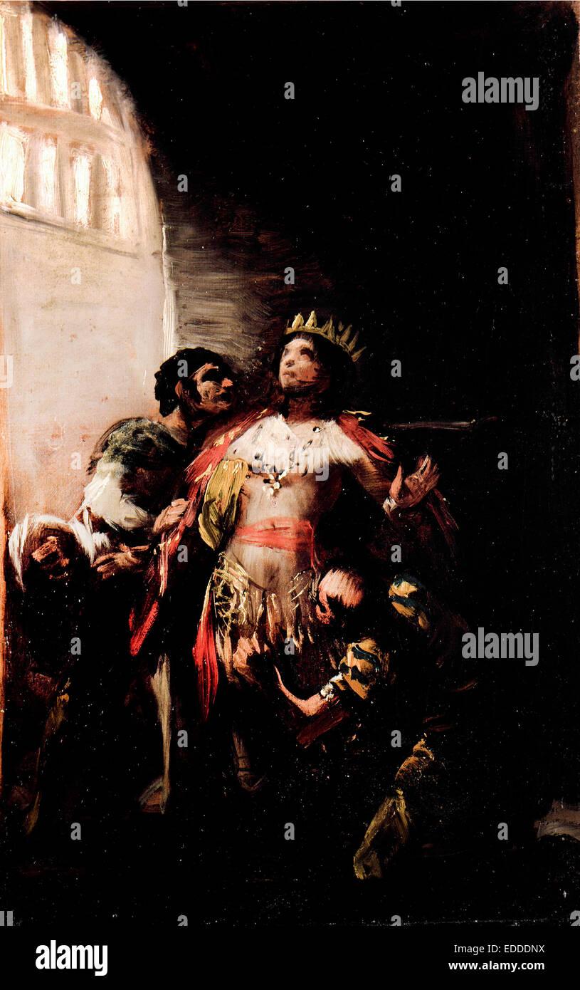 Francisco de Goya y Lucientes, San Hermenegild en prisión 1799 Óleo sobre lienzo. Museo de Lázaro Galdiano, Madrid, Foto de stock