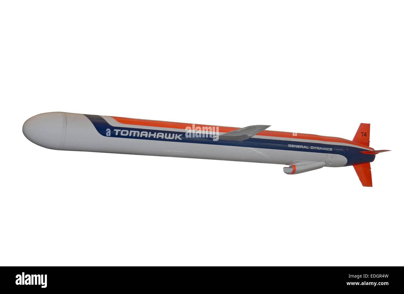 Washington, DC - Abril 17, 2013: la guerra fría Tomahawk misile se muestra al público en Washington, DC. Imagen De Stock