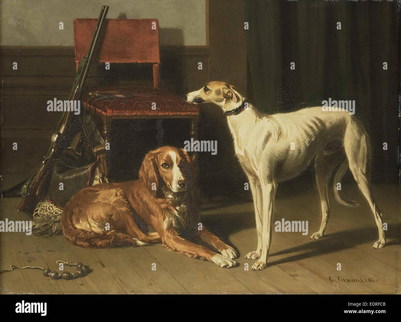 Compañeros de caza, Conradijn Cunaeus, 1860 Imagen De Stock