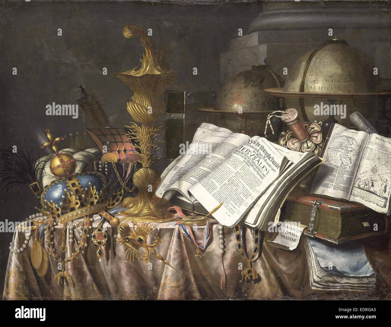 Vanitas Bodegón, Edwaert Collier, 1662 Imagen De Stock