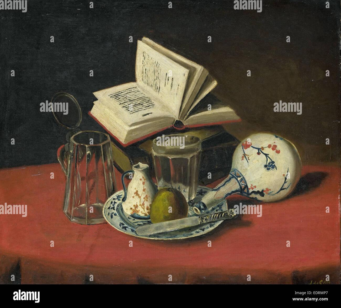 Still life, J. De Clercq, 1860 Imagen De Stock