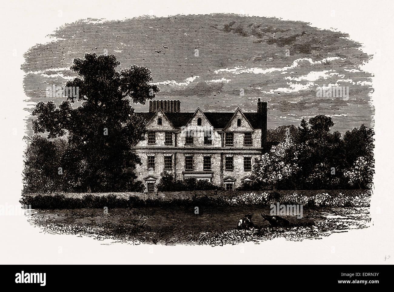 Casa de Boston, desde una impresión antigua de 1799 Imagen De Stock