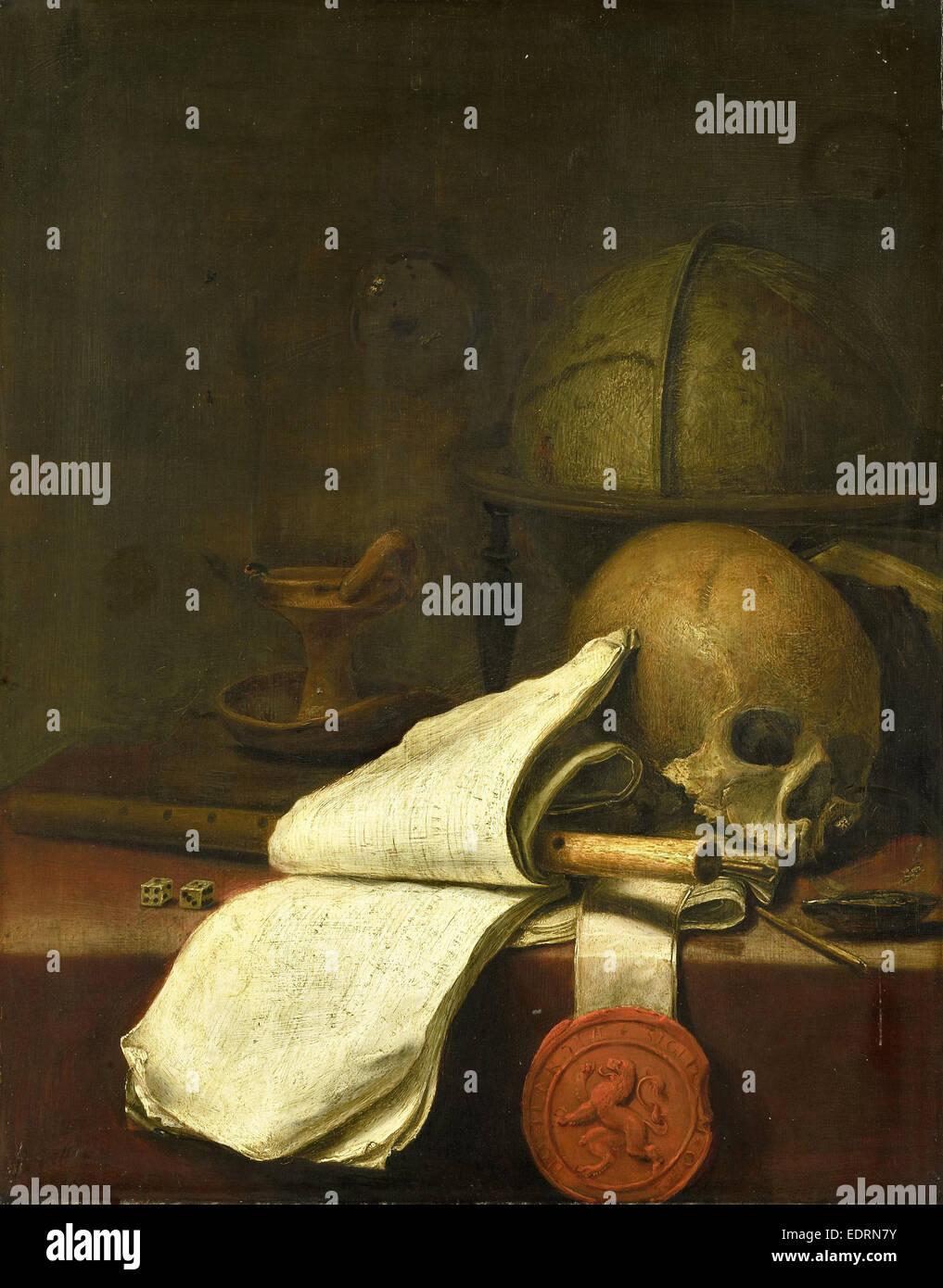 Vanitas bodegón, Pieter Symonsz. Potter, 1646 Imagen De Stock
