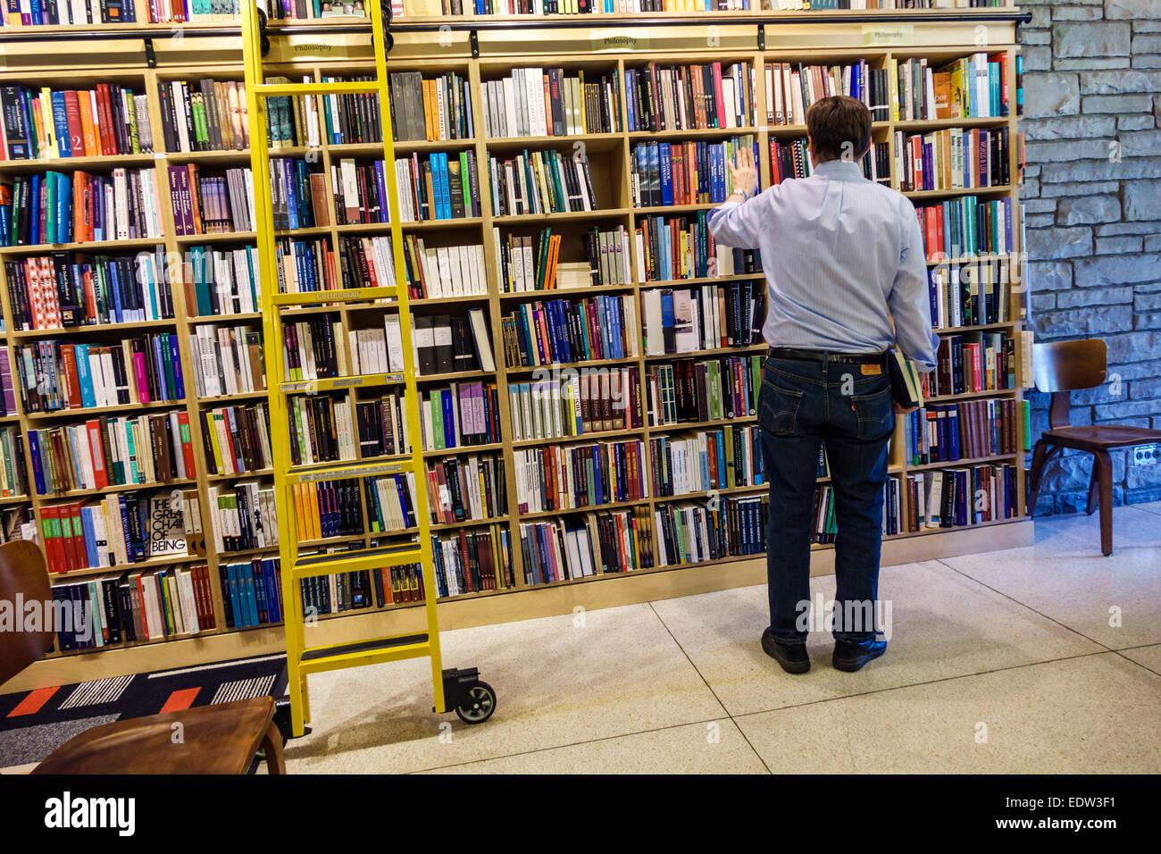 Illinois, IL, Midwest, Chicago, Hyde Park, campus, Universidad de Chicago, las librerías de la cooperativa del seminario, Foto de stock