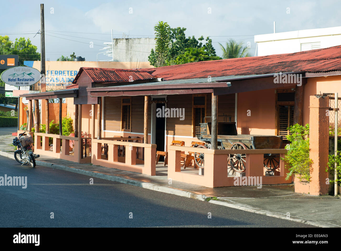 Dominikanische Republik, Südwesten, San José de Ocoa, Rancho Arriba, Hotel Alpin dicen Imagen De Stock
