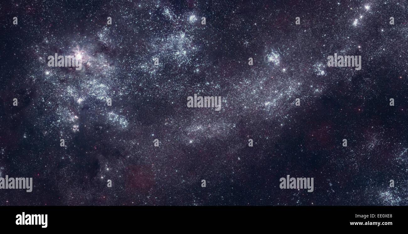 Campo de estrellas en el espacio profundo Imagen De Stock