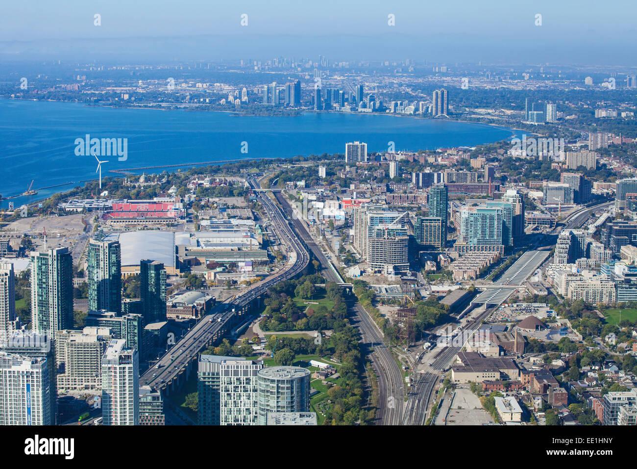 Vista de Toronto, Ontario, Canadá, América del Norte Imagen De Stock