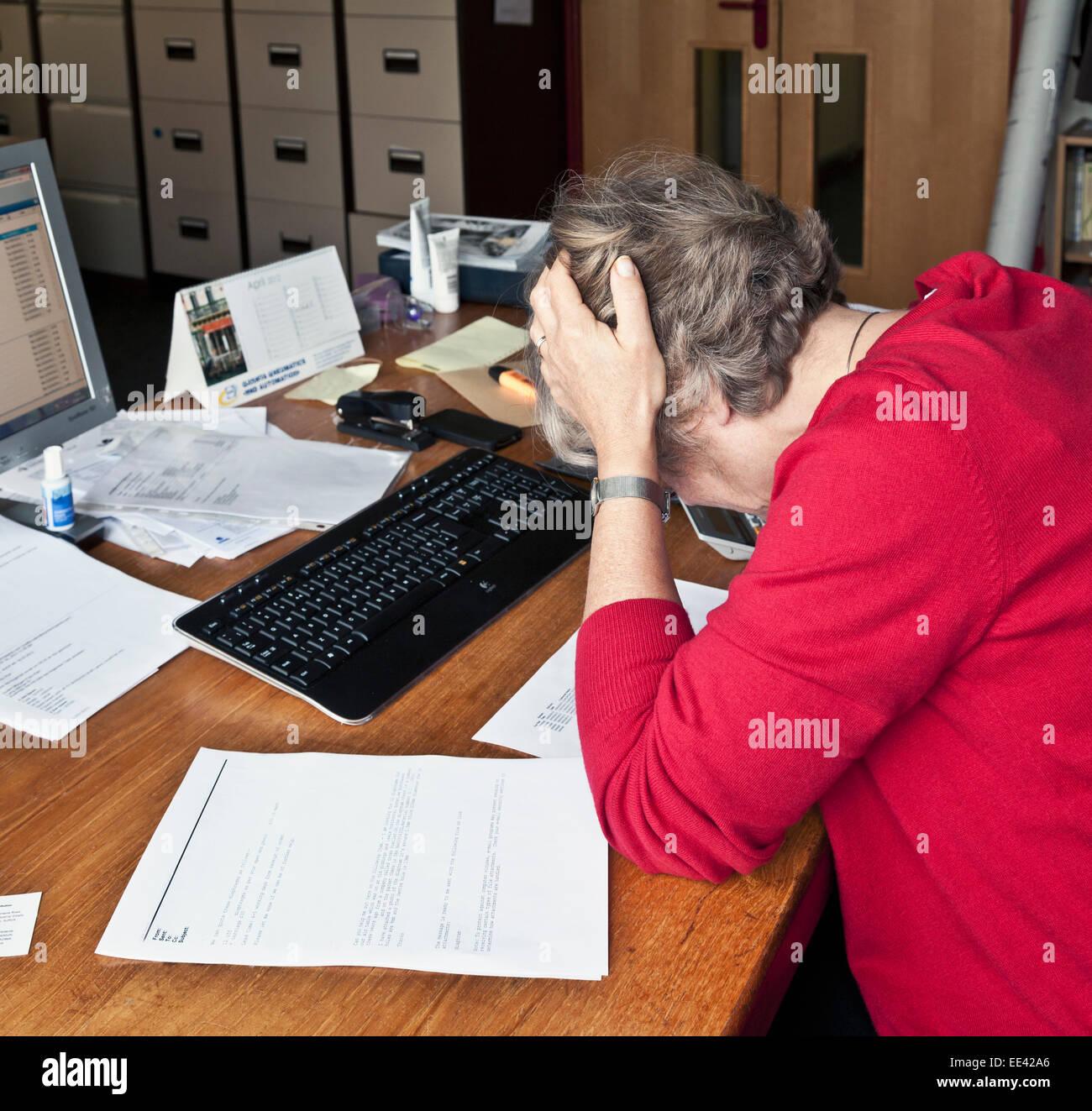 Estrés de oficina Imagen De Stock