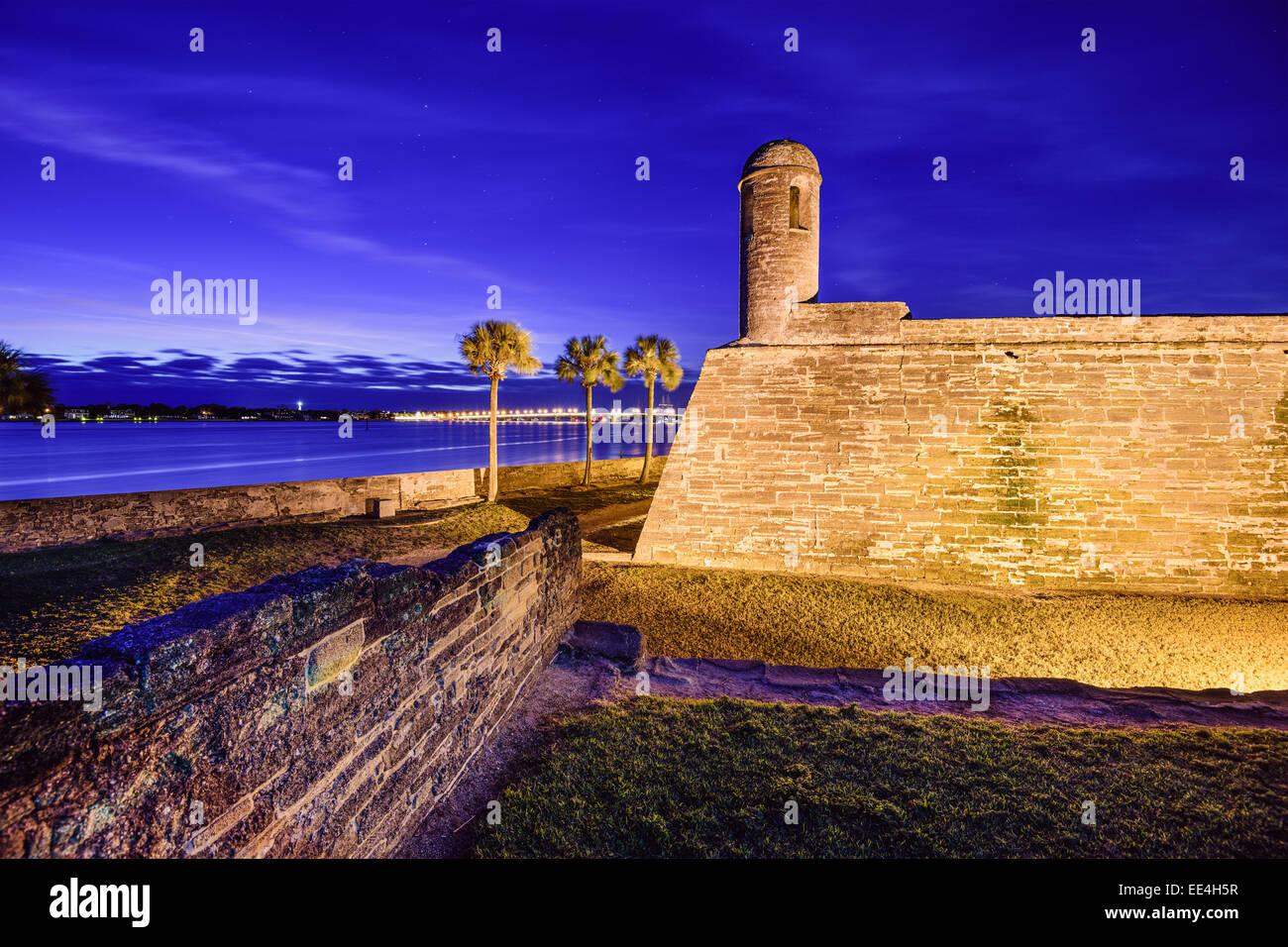 San Agustín, Florida, en el Castillo de San Marcos Monumento Nacional. Imagen De Stock