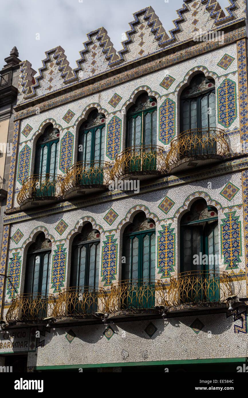 Provincia Express Hotel, una arquitectura de estilo morisco, está situado en el centro histórico de Puebla, Imagen De Stock