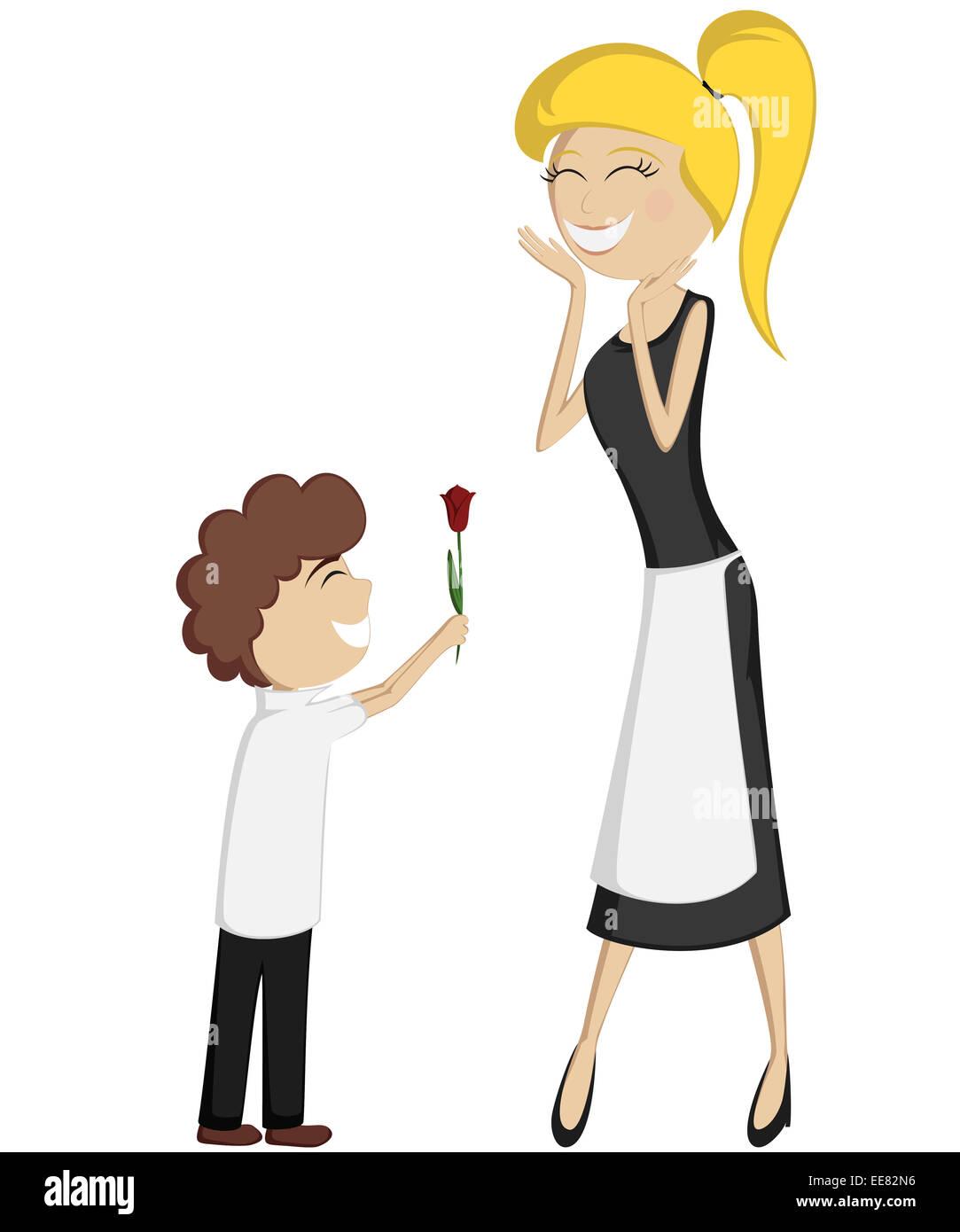 Sorpresa Mamá Coloridos Y Detallados Dibujos Animados De Estilo