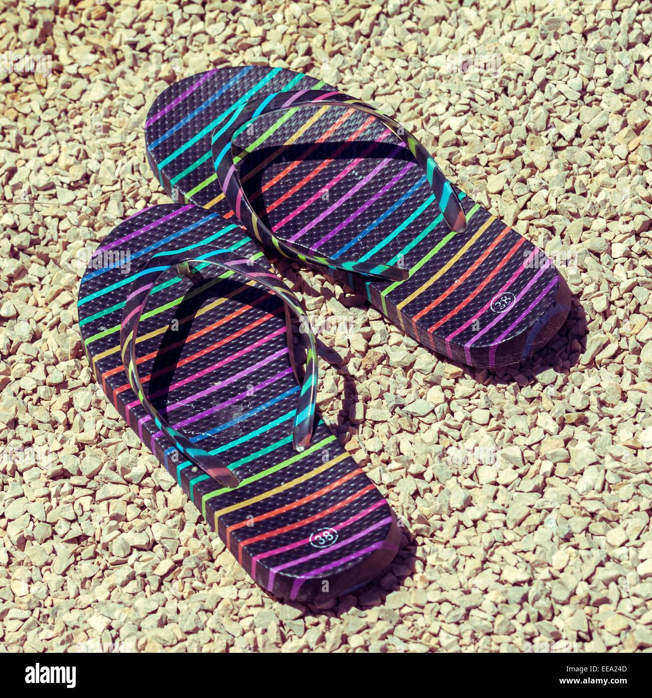 Picture Of Flip Flops Imágenes De Stock & Picture Of Flip Flops ...