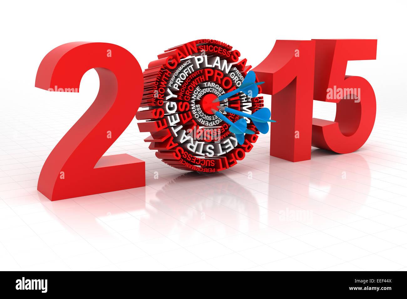 2015 objetivo comercial, 3D Render Imagen De Stock