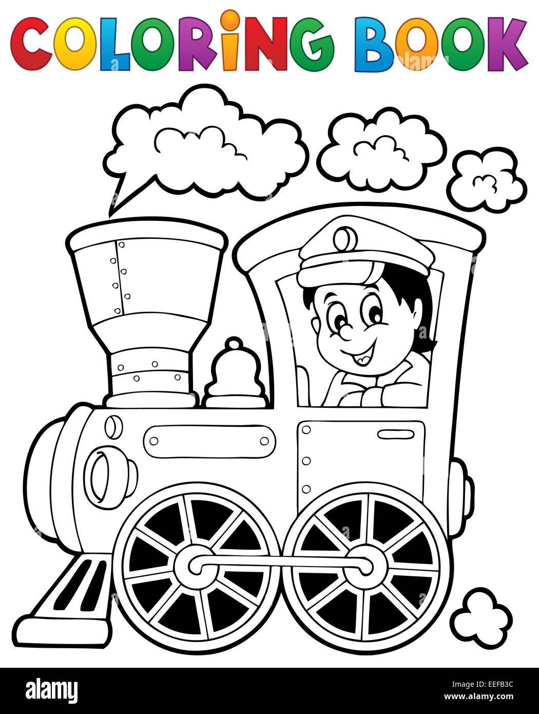 Dorable Tren Para Colorear Libro Patrón - Dibujos Para Colorear En ...