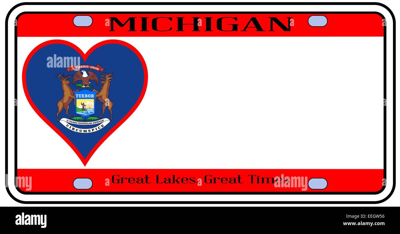 Moderno Estado De Michigan Para Colorear Imagen - Enmarcado Para ...