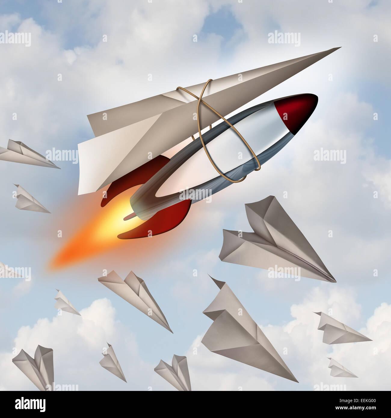 Concepto de aviones de papel como una metáfora para aumentar su ...