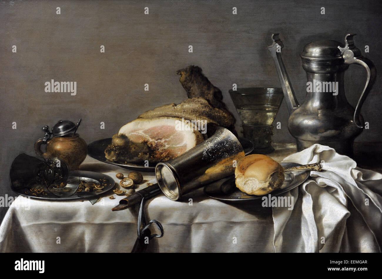 Pieter Claesz (1597-1660). La edad de oro holandesa pintor. Still life. Alte Pinakothek. Munich. Alemania. Imagen De Stock