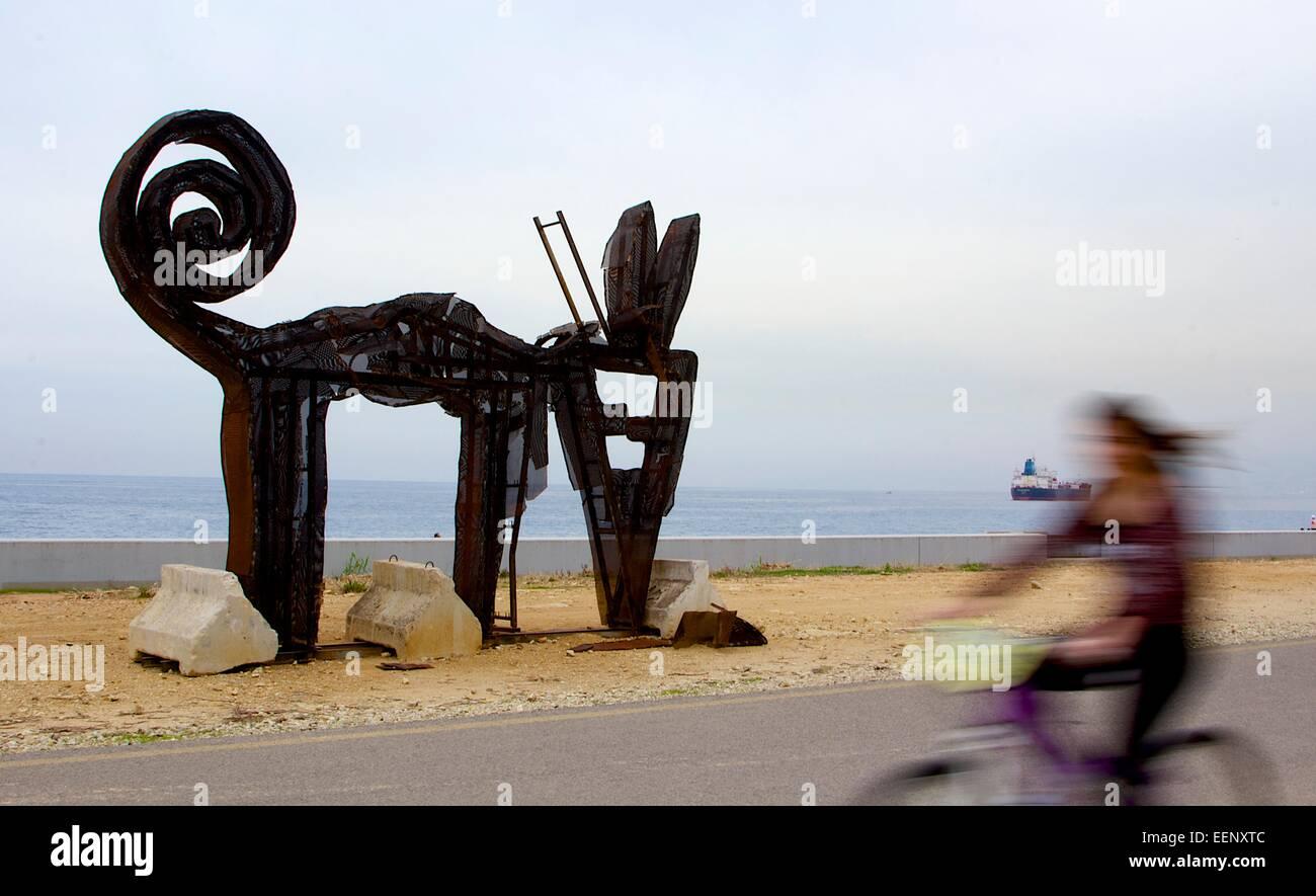 Estructura de arte en Beirut Imagen De Stock