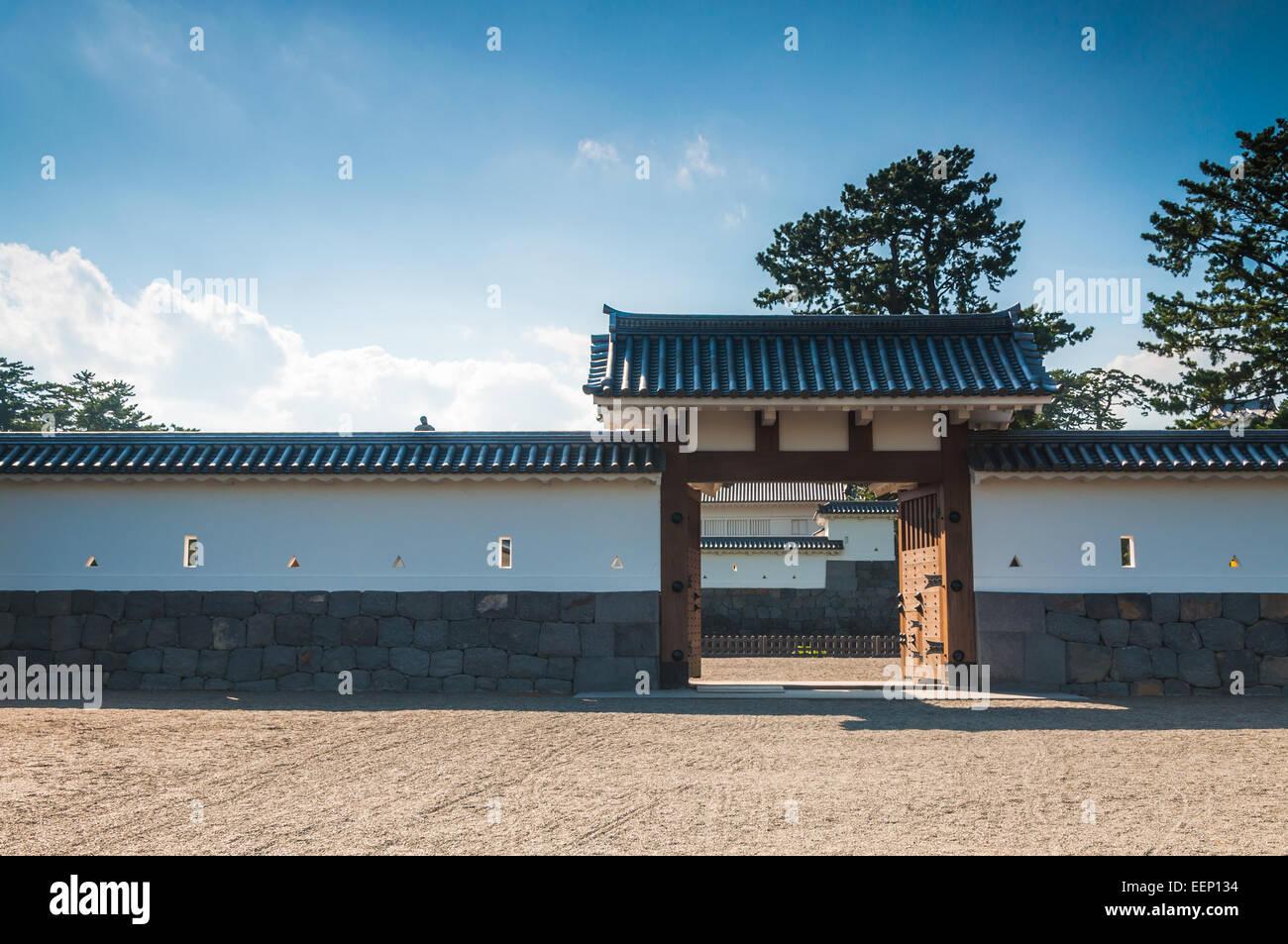 La arquitectura tradicional japonesa en Odawara Castillo en Odawara, Japón. Imagen De Stock