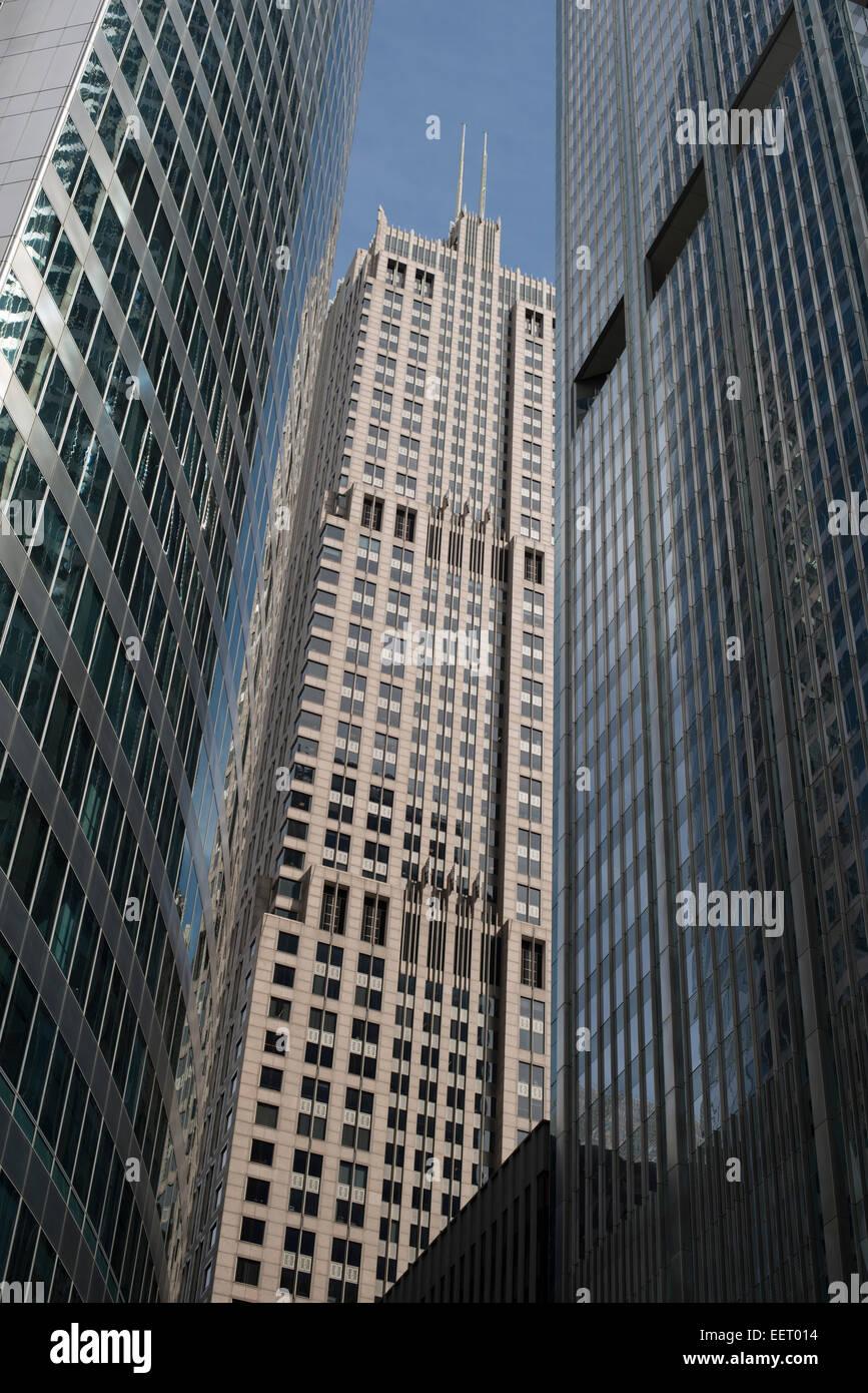 Chicago , edificios clásicos y modernos rascacielos,enmarcado Foto ...